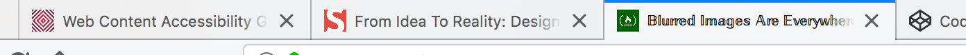 Tabs in Firefox, one with an apparently different font